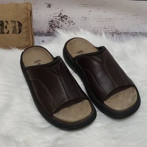 Skechers Leather Slides Sandals Sn 4272 Size 9